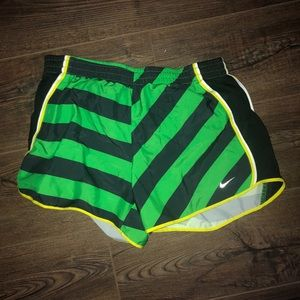 Nike Running Shorts in Green and Black
